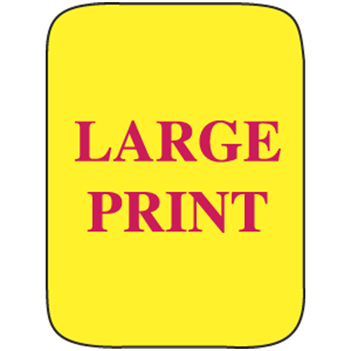 Classification Labels - Large Print, 250/Roll