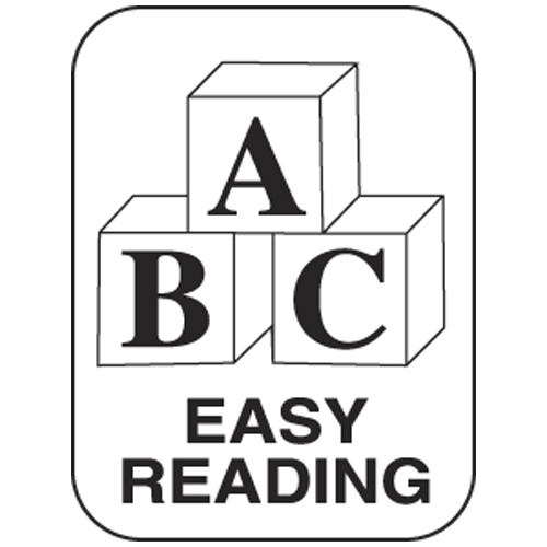 Classification Labels - Easy Reading, 250/Roll