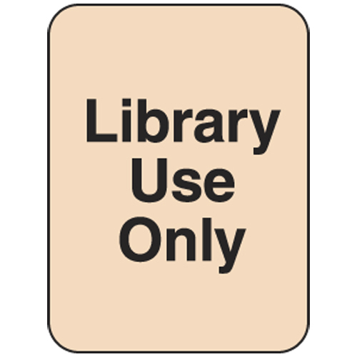 Classification Labels - Library Use Only, 250/Roll