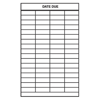 Date Due Slips - 4-Column