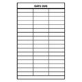 Date Due Slips - 3-Column