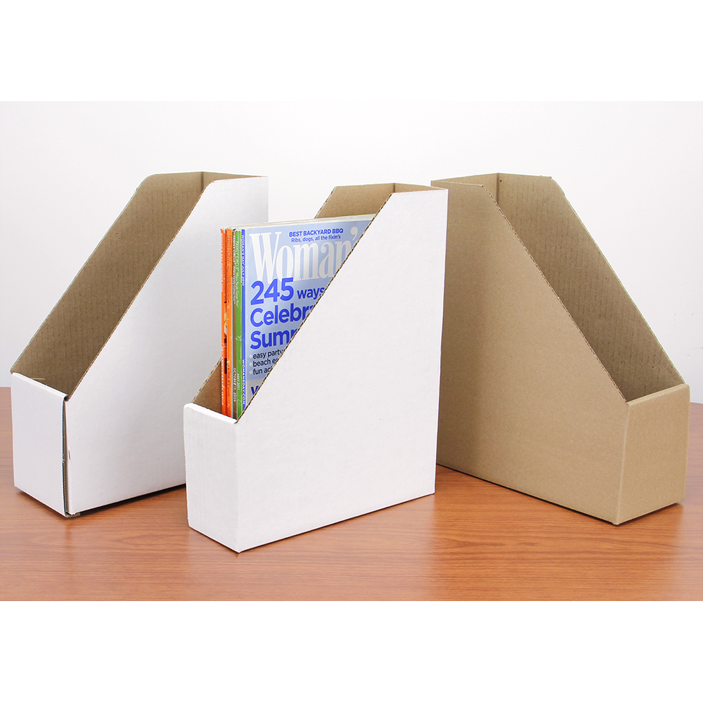 Economical Corrugated Book/Magazine File Cases