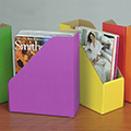 ColorPam™ Solid Colored Corrugated Magazine File Cases
