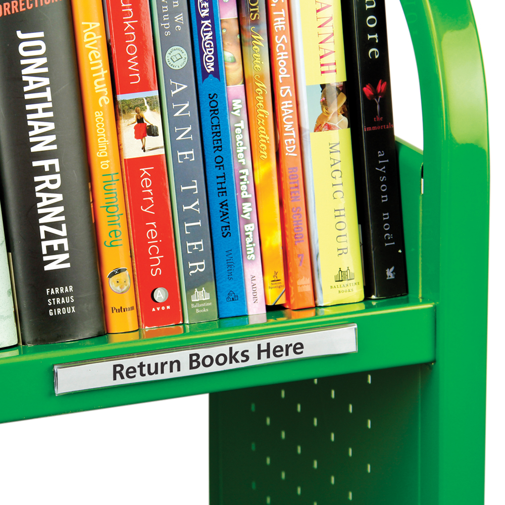 HOL-DEX® Clear Shelf Label Holders with Magnetic Backing