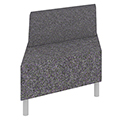 Qube Lounge Seating - Single Right Angel Bench