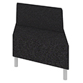 Qube Lounge Seating - Single Left Angel Bench