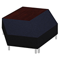 Qube Lounge Seating - 2 Bench 1 Table