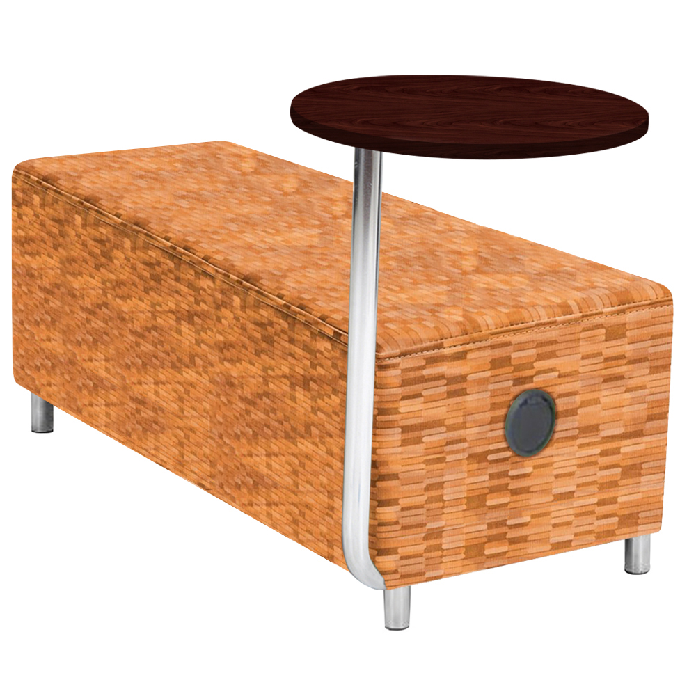 """Gressco Collaboration Seating - 60""""W Bench with Power Right & Left and Tablet"""