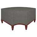 Urban Lounge Seating - Curved Corner Bench, Fabric