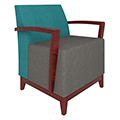 Urban Lounge Seating - Chair with Arms, Fabric