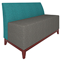 Urban Lounge Seating - Loveseat without Arms, Fabric