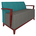 Urban Lounge Seating - Loveseat with Arms, Fabric