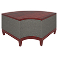 Urban Lounge Seating - Curved Corner Bench with Laminate Top and Fabric Sides
