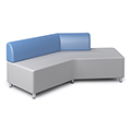 Russwood® Exchange Lounge Seating - Right Back Sofa, Fabric