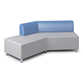 Russwood® Exchange Lounge Seating - Left Back Sofa, Fabric