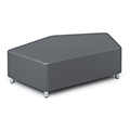 Russwood® Exchange Lounge Seating - Pentagon Ottoman, Fabric