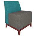 Urban Lounge Seating - Chair without Arms, Vinyl
