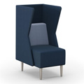 HPFI® Eve Harbor Lounge Seating - Club Chair with K Privacy Panel, Fabric