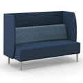 HPFI® Eve Harbor Lounge Seating - Sofa with D Privacy Panel, Fabric