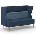 HPFI® Eve Harbor Lounge Seating - Sofa with K Privacy Panel, Leather