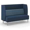 HPFI® Eve Harbor Lounge Seating - Sofa with D Privacy Panel, Leather