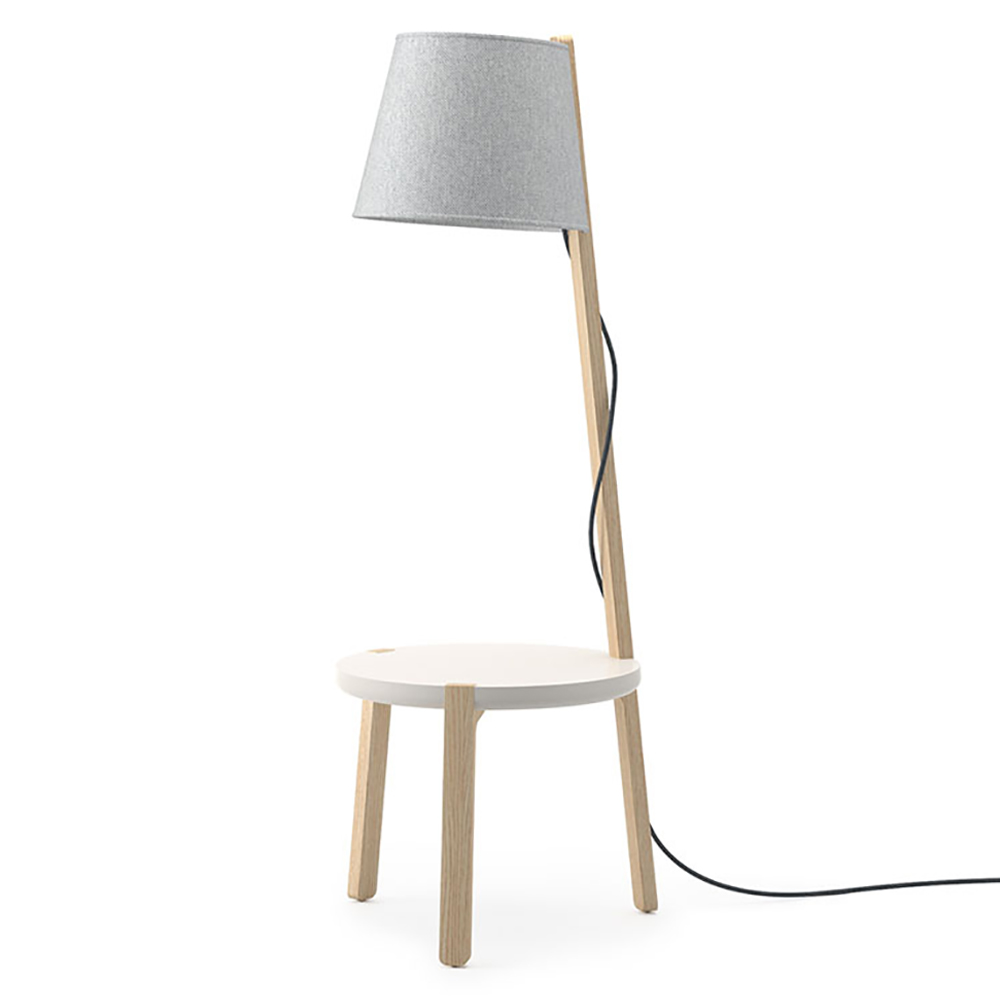 """JSI Indie Lounge Seating - Floor Lamp with 14""""H Table"""