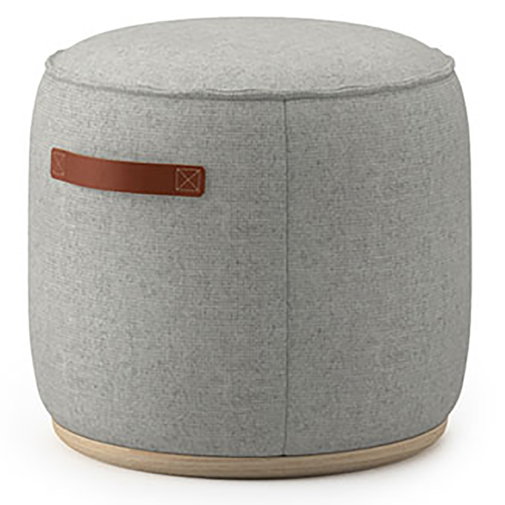 "JSI Indie Lounge Seating - Leather 12""H x 18"" Round Pouf"