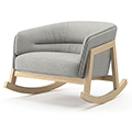JSI Indie Lounge Seating - Leather Rocker Chair