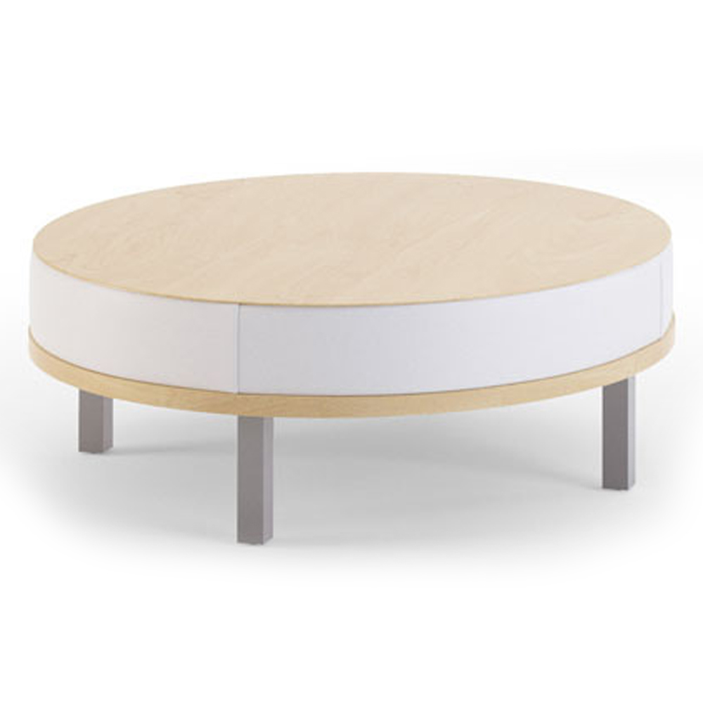 """JSI Connect Lounge Seating - 42"""" Diameter Coffee Table, Leather"""