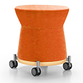 JSI Collective Motion Lounge Seating - Mobile Stool, Fabric