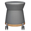 JSI Collective Motion Lounge Seating - Mobile Stool, Leather