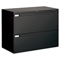 GLOBAL Lateral File Cabinet - 2-drawer, 27-1/2