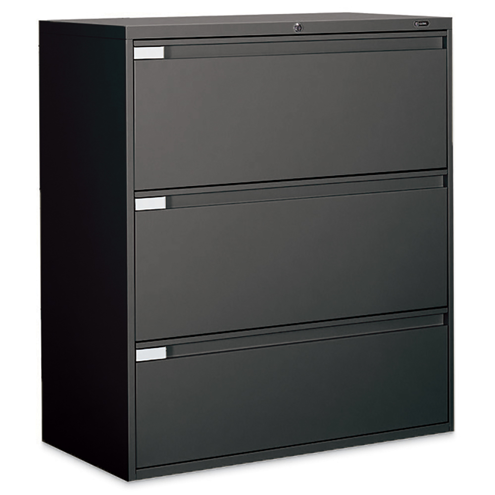 "GLOBAL Lateral File Cabinet - 3-drawer, 40-1/2"" x 36"""