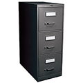 GLOBAL Vertical File Cabinets - 3-drawer, 40