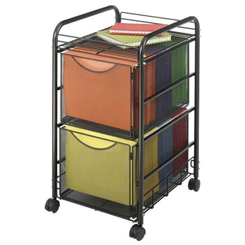 SAFCO® Onyx™ Mesh File Cart with 2 Drawers