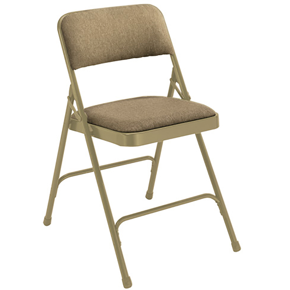 "National Public Seating Steel Folding Chair - 1-1/4"" Foam, Fabric Upholstered"
