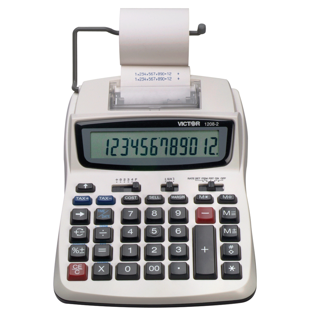 VICTOR® 1208-2 Compact Commercial Printing Calculator