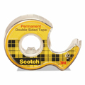 Scotch® 665 Double-Sided Tape with Dispenser - 1/2