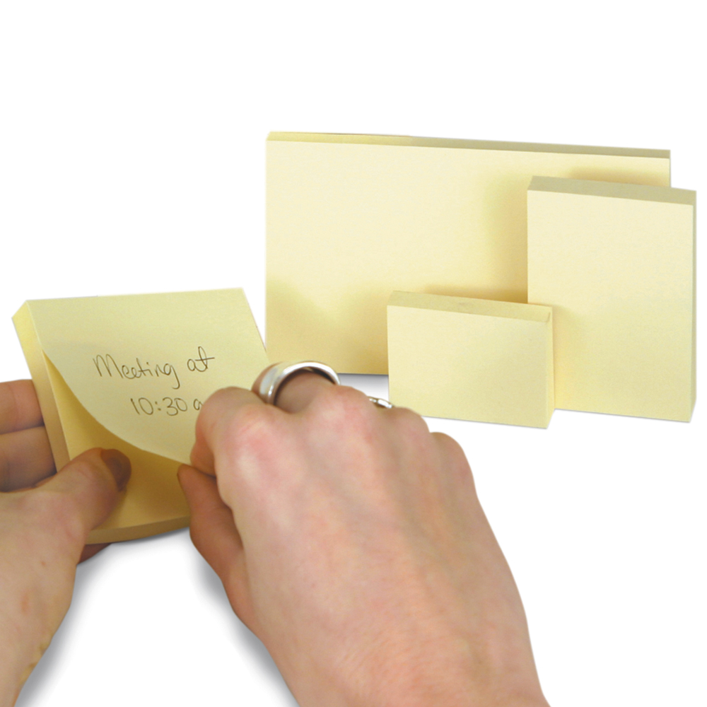Highland™ Self-Stick Removable Notes - Yellow - 1-1/2 x 2, 12 Pads/Pkg