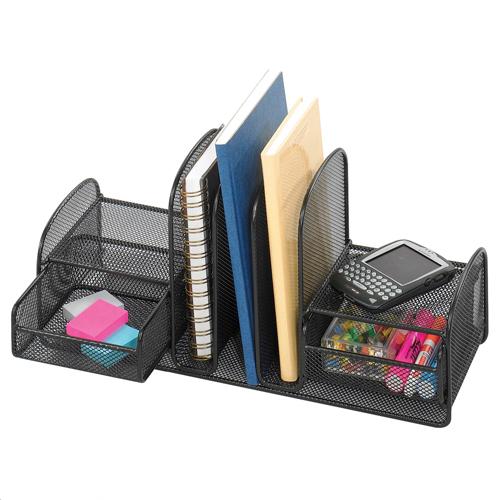 SAFCO® Onyx™ Desk Organizer - 3 Upright Sections / 2 Baskets