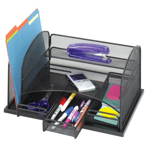 SAFCO® Onyx™ Mesh Desk Organizer - 3 Drawers