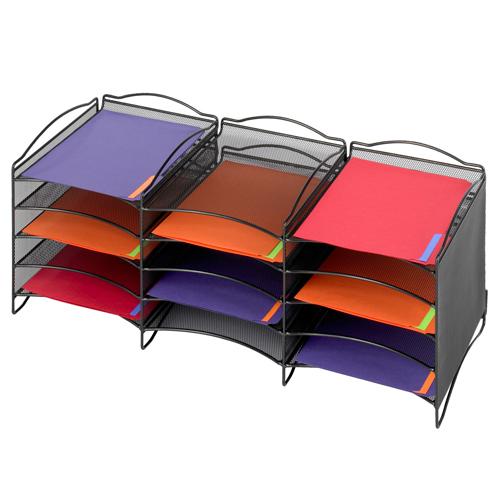 SAFCO® Onyx™ Mesh 12 Compartment Literature Organizer