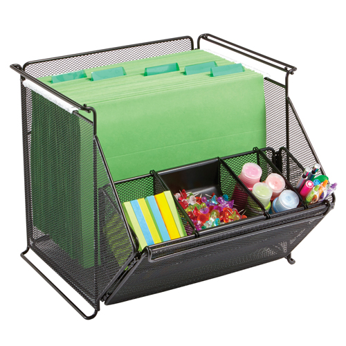 SAFCO® Onyx™ Mesh Stackable Storage Bins