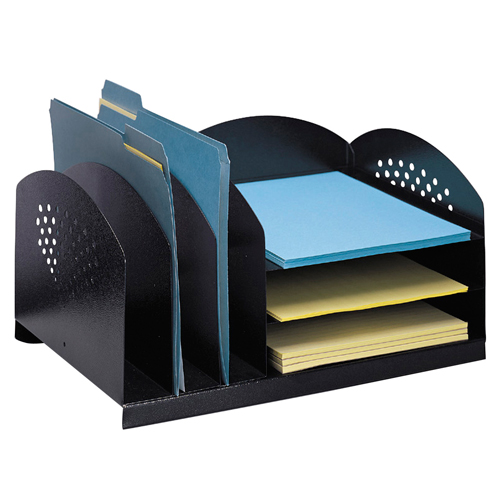 SAFCO® Steel Desk Organizer - 3 Uprights and 3 Shelves