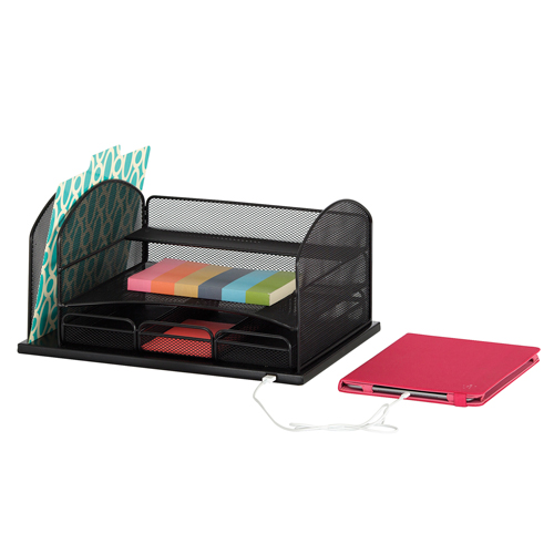 SAFCO® Onyx™ Powered Organizer with 3 Drawers