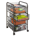 SAFCO® Onyx Mesh File Cart with 4 Drawers