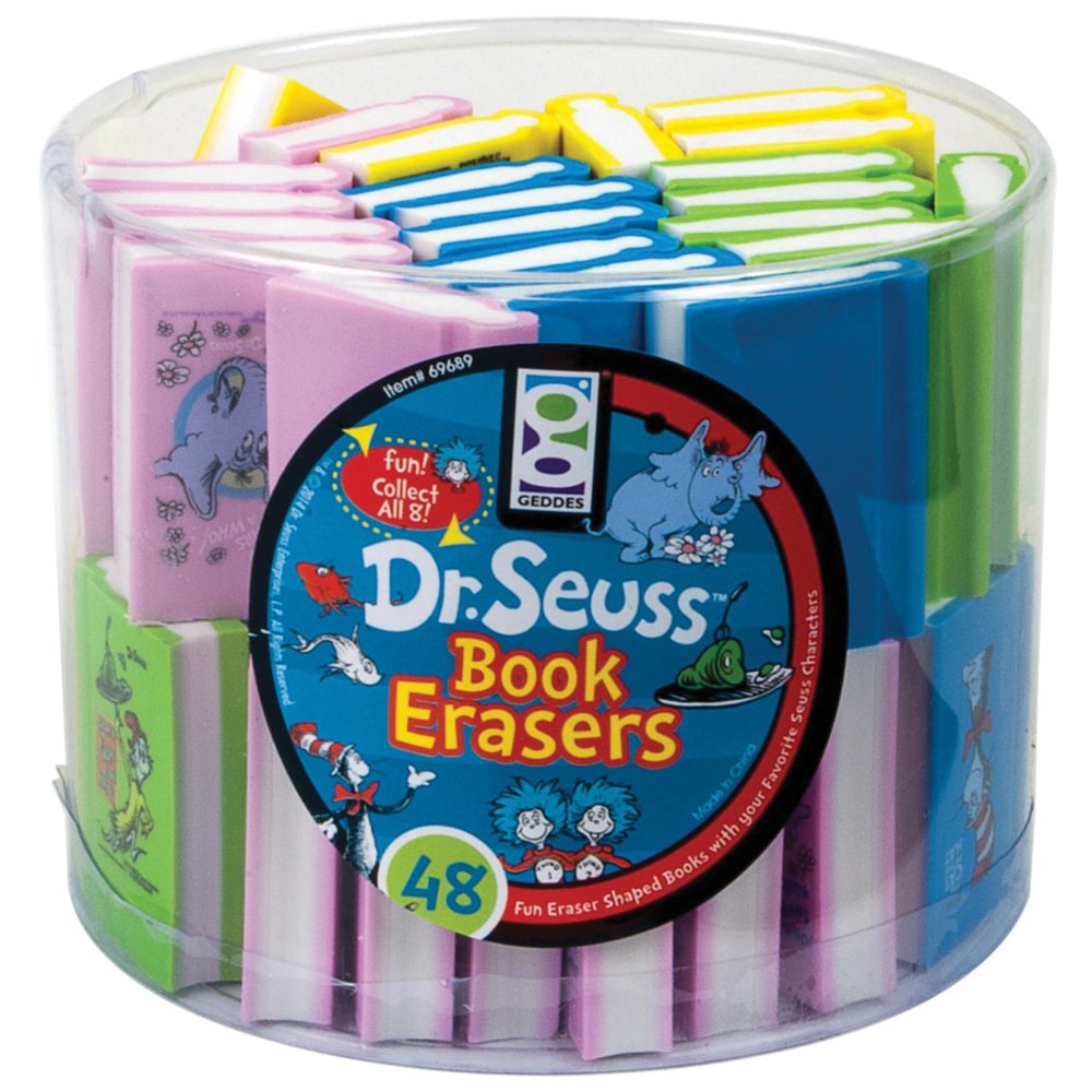 Dr Seuss™ Mini Book Erasers - 48/Pkg