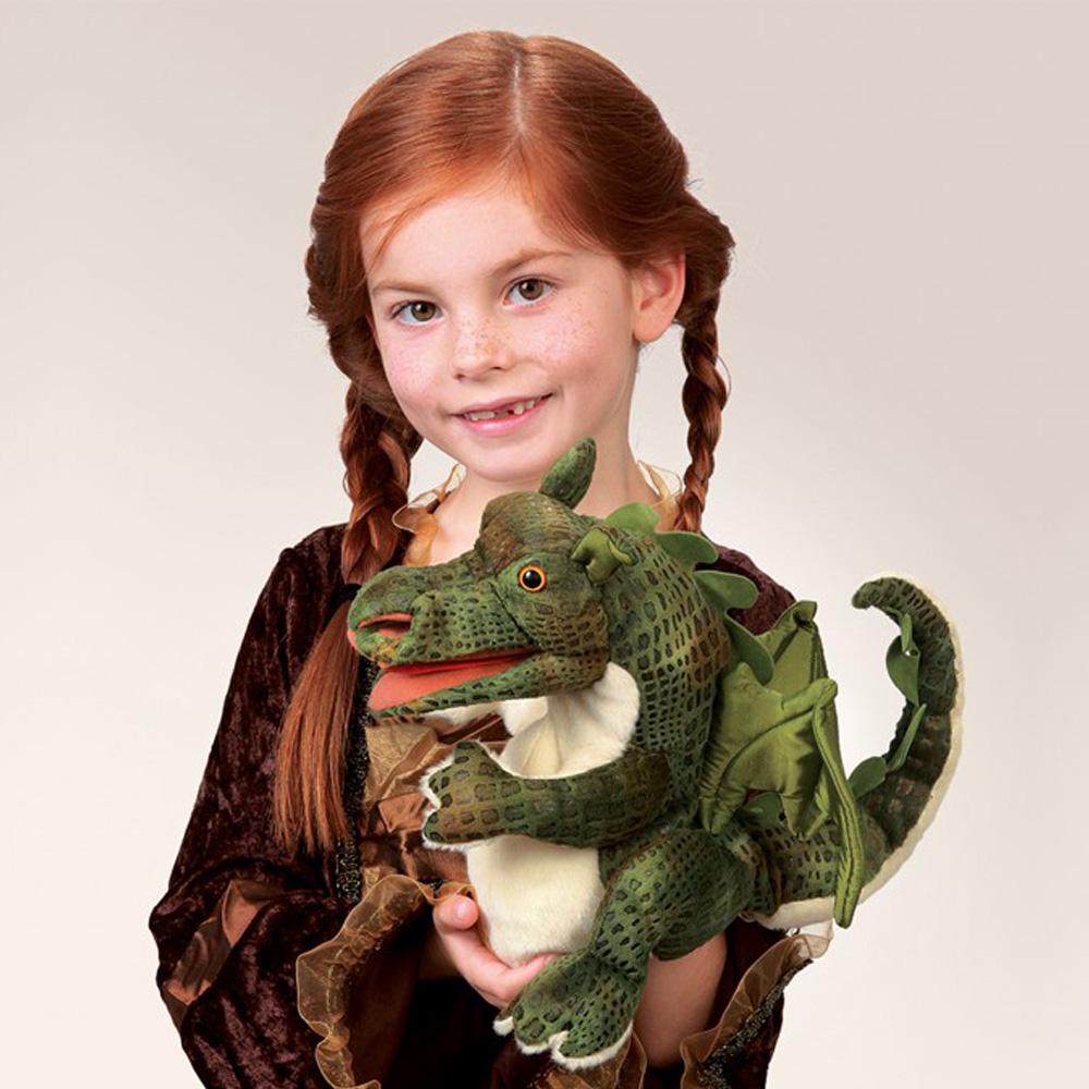 "Baby Dragon Hand Puppet - 8 1/2"" H"