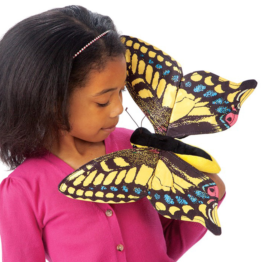 "Swallowtail Butterfly Hand Puppet - 12"" W"