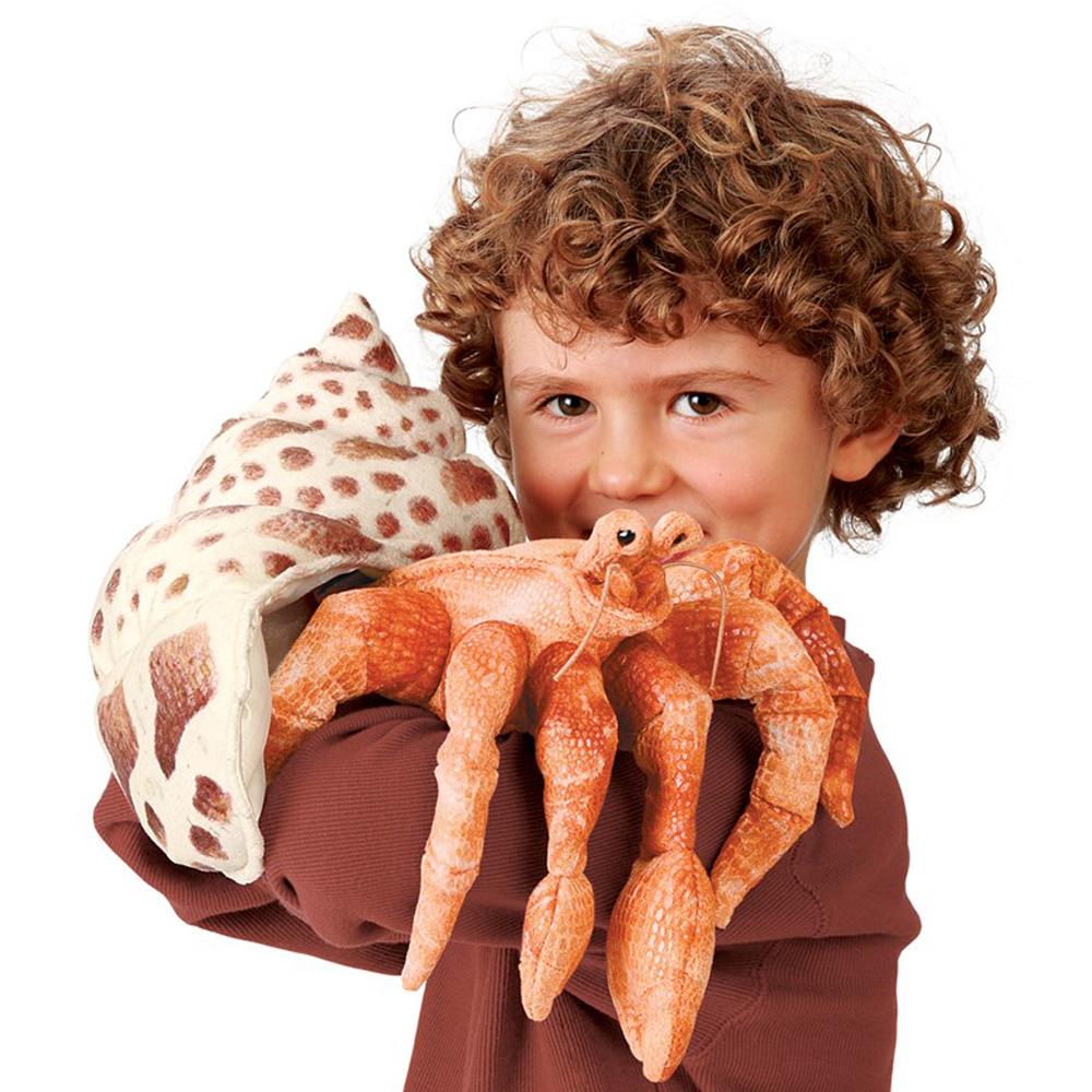 """Hermit Crab Hand Puppet - 13"""" L"""